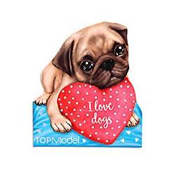 TOPModel Kitty & Doggy Notesblok, I love dogs