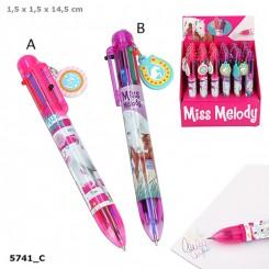 Miss Melody 6-farvet kuglepen