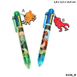 Dino World 6-farvet kuglepen