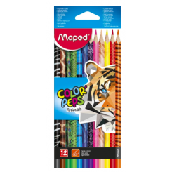 Maped Color' Peps Animals farveblyanter 12 stk.