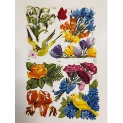 Glansbilleder blomster 1547