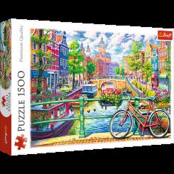 Puslespil Amsterdam Kanal, 1500 brikker