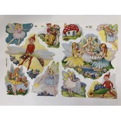 Glansbilleder feer og alfer 1726