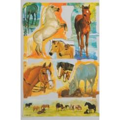 Glansbilleder heste 1976