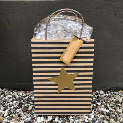 Gavepose, striber og stjerne, stor