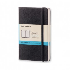 Moleskine Classic collection, dots, hard cover, 9x14cm, sort