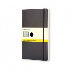 Moleskine Classic collection, blank, hard cover, 13x21cm, sort