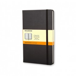 Moleskine Classic collection, linieret, hard cover, 13x21cm, sort