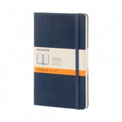 Moleskine Classic collection, linieret, hard cover, 13x21cm, blå