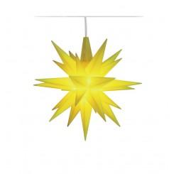 Adventsstjerne, plast, 13cm, samlet, limone LIMITED EDITION 2019 (LED)