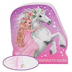 FANTASYModel Notesblok lille Mermaid, Enhjørning og Havfrue, pink