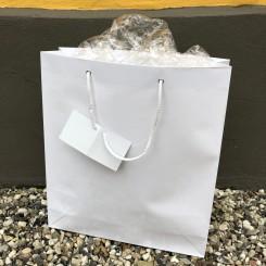 Gavepose, stor, hvid