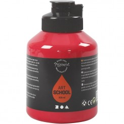 Pigment Art School, rød, 500 ml