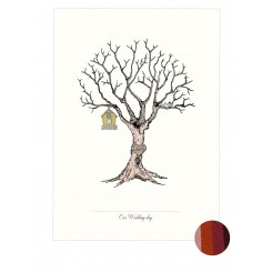 Wedding Tree - Fingerprint Brown