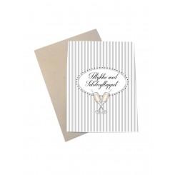 Mouse & Pen kort A6 - Tillykke med sølvbrylluppet