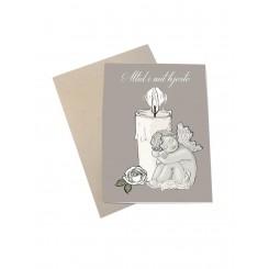 Mouse & Pen kort A6 - Altid i mit hjerte