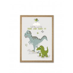 Mouse & Pen illustration A4 - Dino - Let the world hear you roar!