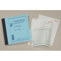 Triplikatbog med talkolonne nr. 10033