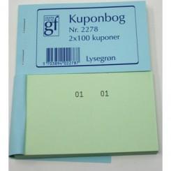 Kuponbog nr. 2278 - lysegrøn