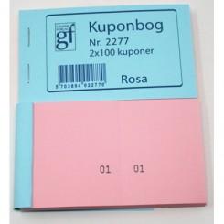 Kuponbog nr. 2277 - rosa