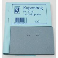 Kuponbog nr. 2276 - grå
