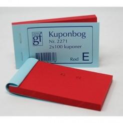 Kuponbog nr. 2271 - rød