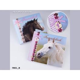 Horses Dreams vennebog - Sort hest