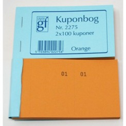 Kuponbog nr. 2275 - orange