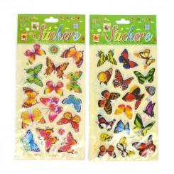 Klistermærker, sommerfugle 18 stk.