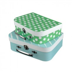 Kuffertsæt, 2 stk, lyseblå