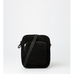 Crossbody Bag - Liv Suede - Black