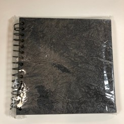 Scrapbog metallic, mørkegrå