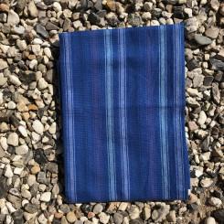 Viskestykke, stribet, blå
