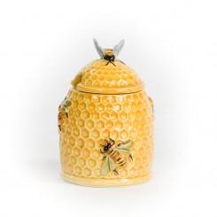 Honningkrukke med bier