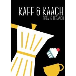 MutMut kort, A5 - KAFF & KAACH - SORT