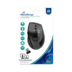 MediaRange 5-button wireless optical mouse, sort