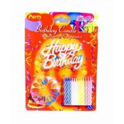 Fødselsdagskage lys med holder