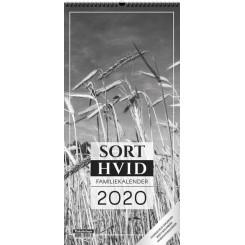 Sort/hvid Foto Familiekalender 2020