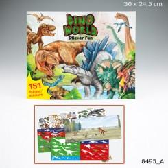 Dino World Sticker- og Malebog