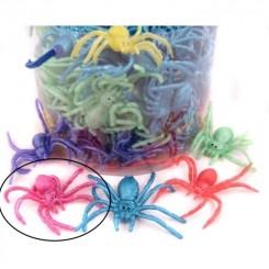 Edderkop, gummi 8 cm - pink