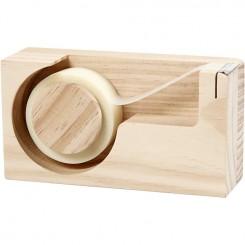 Tape dispenser, 14,3 cm, fyr