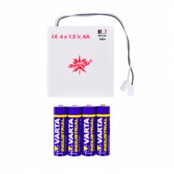 Batteriholder m/timer til én stjerne med LED