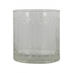 Glas til lys m. slibning
