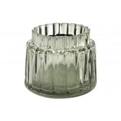 Fyrfadsstage olivengrøn glas