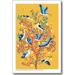 Peggy Nille plakat - Hejrer i pæretræ