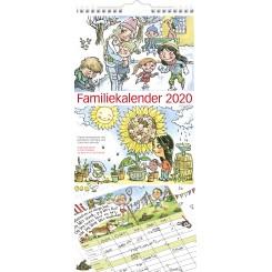 Familiekalender m. illustrationer 6 kolonner, 2020