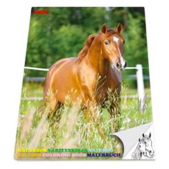 Malebog A4 - Heste
