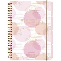 Ugekalender Life Planner Pink A5, 2020