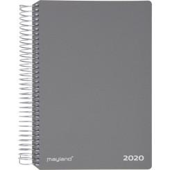 Ugekalender spiralryg grå, 2020