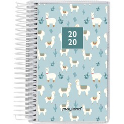 Mini dagkalender spiralryg m. 4 illustrationer, 2020